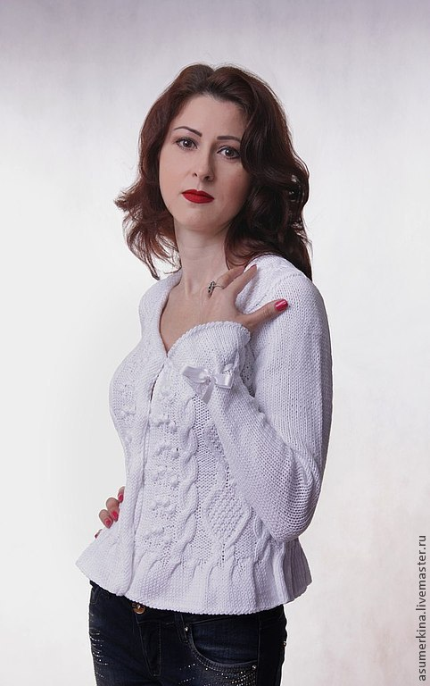White blouse with peplum 'Female whim', Sweater Jackets, Moscow,  Фото №1