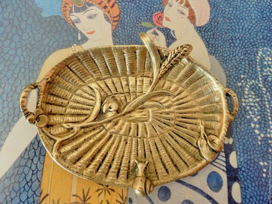 Винтажная посуда. Ярмарка Мастеров - ручная работа. Купить Антикварная миниатюрная тарелочка Panier бронза ХIХ век Франция. Handmade.