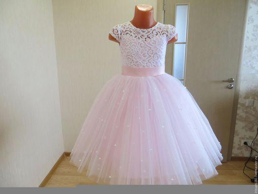 Одежда для девочек, ручной работы. Ярмарка Мастеров - ручная работа. Купить Нарядное платье для девочки. Handmade. Пышное платье, бусины