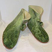 Обувь ручной работы. Ярмарка Мастеров - ручная работа Валенки Ивушка зеленая. Handmade.