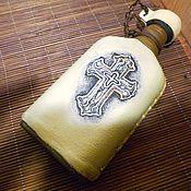 """Подарки к праздникам ручной работы. Ярмарка Мастеров - ручная работа Бутыль-фляга  для святой воды """"Православный крест"""". Handmade."""
