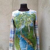 Одежда ручной работы. Ярмарка Мастеров - ручная работа свитерок валяно-вязаный. Handmade.