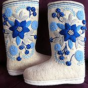 Обувь ручной работы handmade. Livemaster - original item Boots with voluminous embroidery on the sole. Handmade.