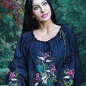 """Одежда handmade. Livemaster - original item Экзотическая вышитая блуза """"Цветок ангела"""". Handmade."""