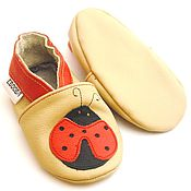 Работы для детей, handmade. Livemaster - original item Leather Baby Shoes, Ebooba, Baby Booties, Baby Moccasins. Handmade.