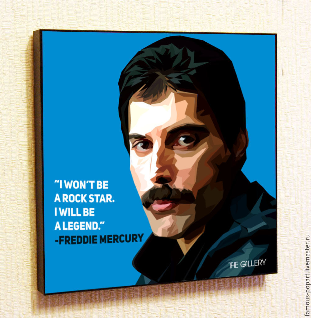 Painting poster Pop Art by Freddie mercury, Queen, Pictures, Moscow,  Фото №1