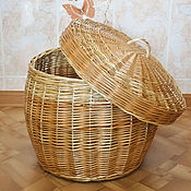 """Для дома и интерьера ручной работы. Ярмарка Мастеров - ручная работа Плетёный короб из натуральной ивовой лозы """"Колобок"""" круглый. Handmade."""