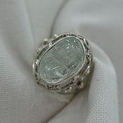 handmade. Livemaster - original item Ring with aquamarine iceberg ( A-16,17). Handmade.