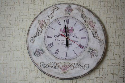 """Часы для дома ручной работы. Ярмарка Мастеров - ручная работа. Купить """"Часы старьевщика"""". Handmade. Часы настенные, часы декупаж"""