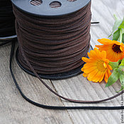 Шнуры ручной работы. Ярмарка Мастеров - ручная работа Замшевый шнур 3 мм. Handmade.