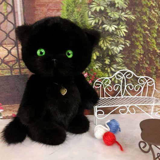 Мишки Тедди ручной работы. Ярмарка Мастеров - ручная работа. Купить Кошечка тедди Багира.. Handmade. Кошка, теддик