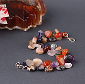 "Украшения handmade. Livemaster - original item Браслет ""Осенний поцелуй"", самоцветы, Канада. Handmade."