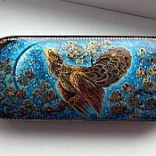 Сумки и аксессуары handmade. Livemaster - original item eyeglass case: Capercaillie .Eyeglass case with miniature painting. Handmade.