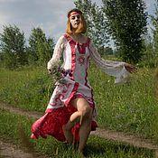 """Одежда ручной работы. Ярмарка Мастеров - ручная работа Валяное свадебное платье """"Жар-птица"""".. Handmade."""