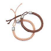 Украшения handmade. Livemaster - original item Set of suede braided bracelets on the hand