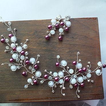 Свадебный салон ручной работы. Ярмарка Мастеров - ручная работа Свадебный комплект украшений для невесты. Handmade.
