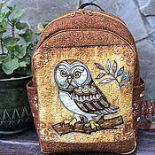 Сумки и аксессуары handmade. Livemaster - original item Owl Backpack. Handmade.