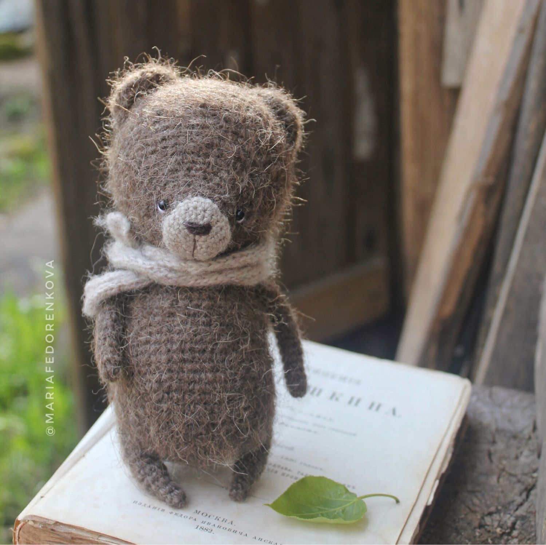 Мишка Медвежонок ручной работы Мишка вязаный милый мишка игрушка, Мягкие игрушки, Вырица,  Фото №1