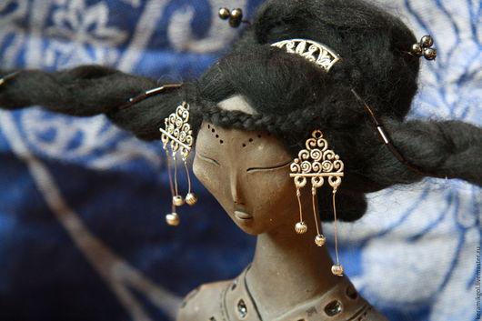 Коллекционные куклы ручной работы. Ярмарка Мастеров - ручная работа. Купить Лунная Река. Handmade. Коричневый, шаман, глина, степь