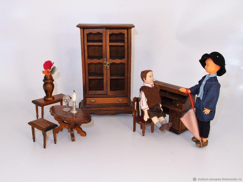 Винтаж: Винтажная кукольная мебель: кабинет Мэтра, Куклы винтажные, Москва,  Фото №1