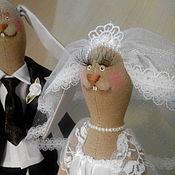 Свадебный салон ручной работы. Ярмарка Мастеров - ручная работа Зайцы свадебные.. Handmade.