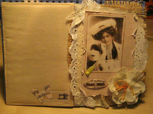 Открытки для женщин, ручной работы. Ярмарка Мастеров - ручная работа. Купить Винтажная открытка.. Handmade. Открытка ручной работы
