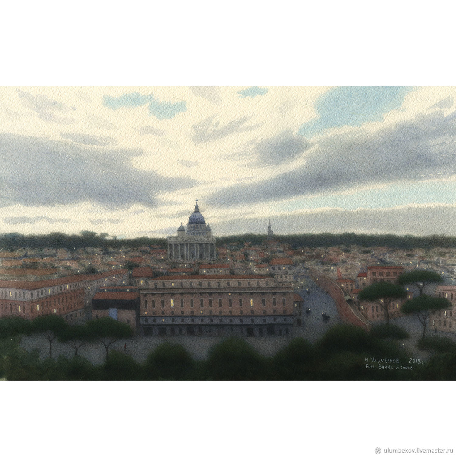 Rome. Eternal city painting artist Ulumbekov, Pictures, Moscow,  Фото №1