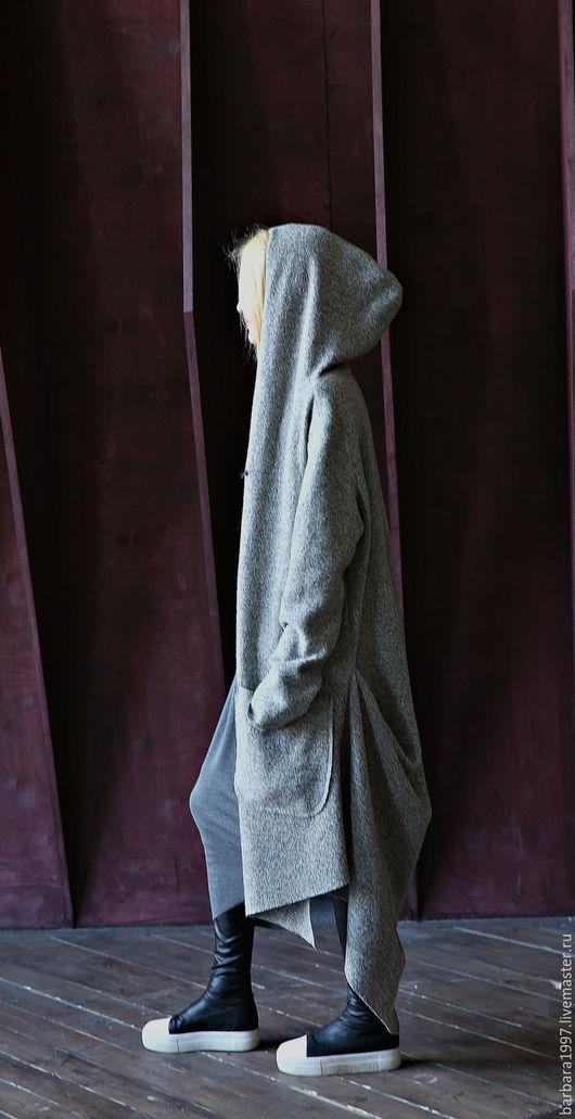 Верхняя одежда ручной работы. Ярмарка Мастеров - ручная работа. Купить Пальто-кардиган шерстяной CONCEPTUAL GREY. Handmade. Пальто
