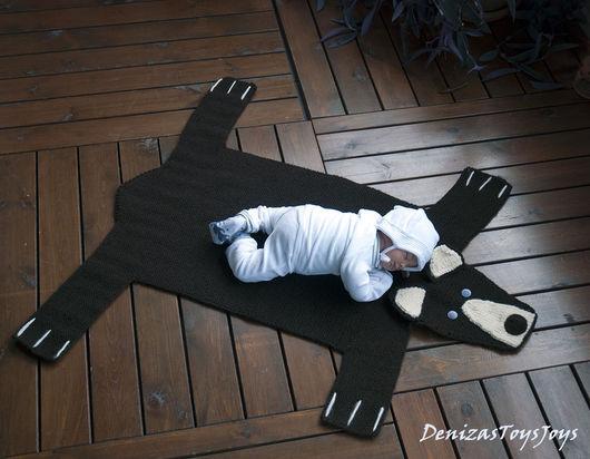"""Вязание ручной работы. Ярмарка Мастеров - ручная работа. Купить Мастер-класс """"Детский коврик для новорожденного малыша Шкура Медведя3"""". Handmade."""