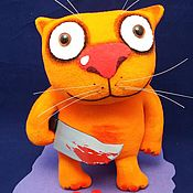 Куклы и игрушки handmade. Livemaster - original item May the new day bring you joy! Soft toy Lozhkin`s cat. Handmade.