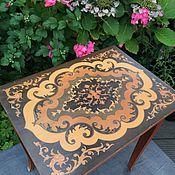 Винтаж handmade. Livemaster - original item Table, music box, wood, Italy. Handmade.