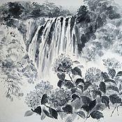 Картины и панно ручной работы. Ярмарка Мастеров - ручная работа Водопад «Ворота Дракона». Handmade.
