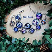 Украшения handmade. Livemaster - original item Doctor who Doctor Who bracelet blue, TARDIS booth. Handmade.