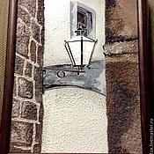 """Картины и панно ручной работы. Ярмарка Мастеров - ручная работа Картины на стекле серия """"Хорватия-Дубровник"""" Фонарь-2. Handmade."""