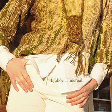 Одежда ручной работы. Ярмарка Мастеров - ручная работа Стильный вязаный джемпер «Луговые травы» Авторская ручная работа. Handmade.