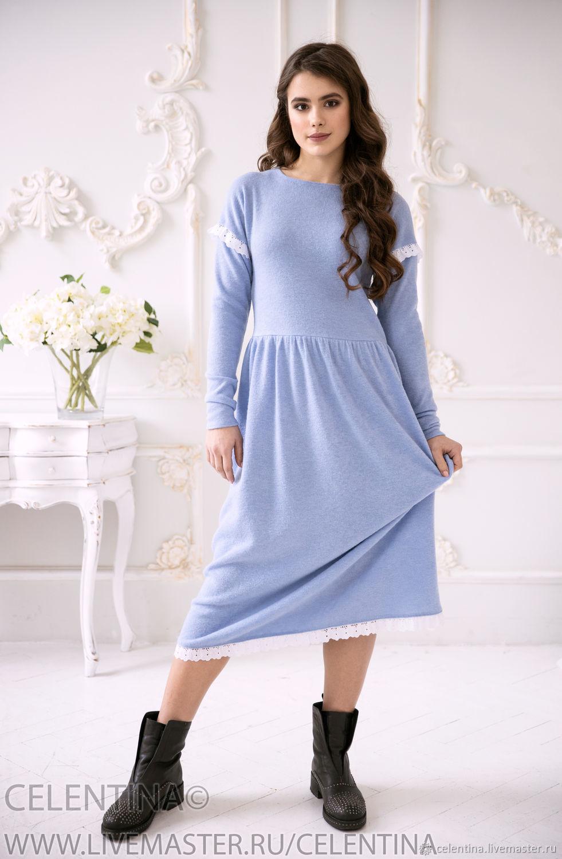 купить платье миди на весну светлое