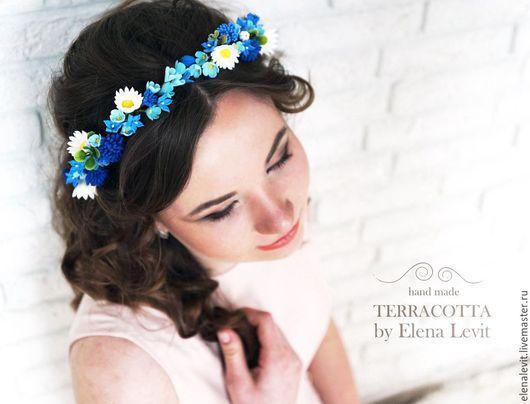 Венок из полимерной глины. Terracotta flowers.