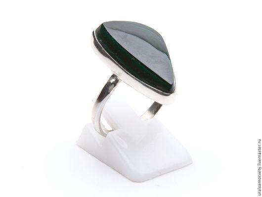 Кольца ручной работы. Ярмарка Мастеров - ручная работа. Купить Малахитовое кольцо в серебре. Handmade. Серебро, малахит натуральный, кольцо