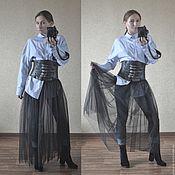 Одежда ручной работы. Ярмарка Мастеров - ручная работа Юбка из фатина без подкладки ( юбка - пачка на джинсы). Handmade.