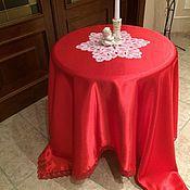Для дома и интерьера handmade. Livemaster - original item Tablecloth red silk.. Handmade.