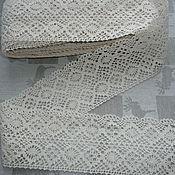 "Lace manualidades. Livemaster - hecho a mano Кружево х/б бежевое "" Ромбы"" 8 см ОСТАТКИ: 2,8; 1,5; 1,7м. Handmade."