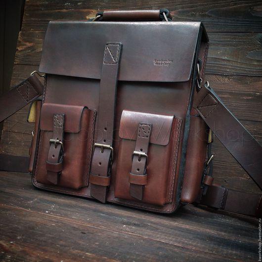 Мужские сумки ручной работы. Ярмарка Мастеров - ручная работа. Купить Сумка - рюкзак 113. Handmade. Сумка, мужская сумка