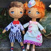 Куклы и игрушки ручной работы. Ярмарка Мастеров - ручная работа Рыжая кроха плюс жених. Handmade.