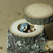 Украшения ручной работы. Ярмарка Мастеров - ручная работа Коробочка для кольца из дерева. Handmade.