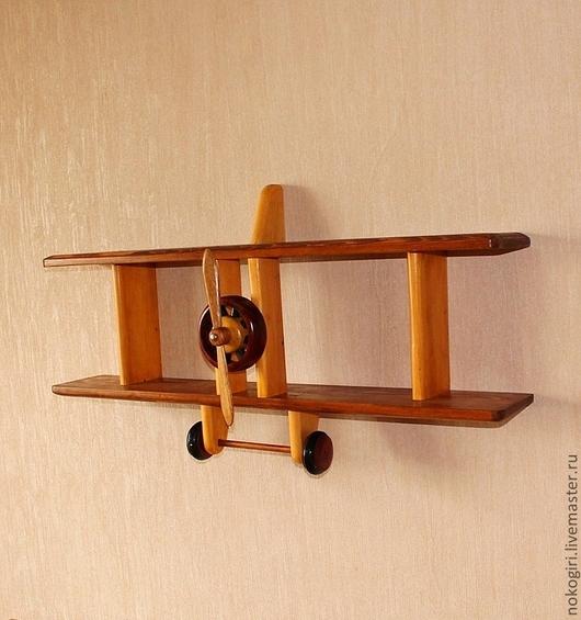 Мебель ручной работы. Ярмарка Мастеров - ручная работа. Купить Полка - Аэроплан 2. Handmade. Коричневый, подарок летчику