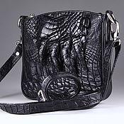 Сумки и аксессуары handmade. Livemaster - original item Shoulder bag made of crocodile leather with paw IMA0655B6. Handmade.