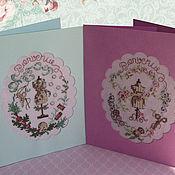 Открытки handmade. Livemaster - original item Cards: Welcome!. Handmade.
