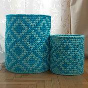 Для дома и интерьера ручной работы. Ярмарка Мастеров - ручная работа Интерьерная корзина большая. Handmade.