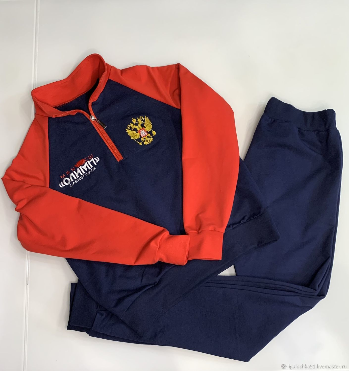Men's tracksuit with individual embroidery, Mens sportswear, Murmansk,  Фото №1