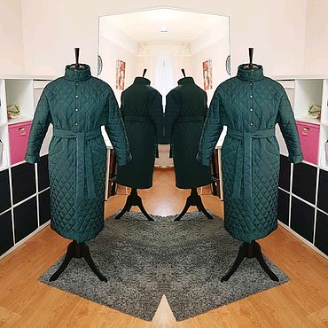 Одежда ручной работы. Ярмарка Мастеров - ручная работа Пальто из стёжки. Handmade.